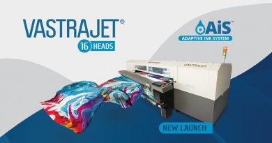 Colorjet to Launch its 16 Heads Vastrajet® with Ais™ at Gartex Texprocess India